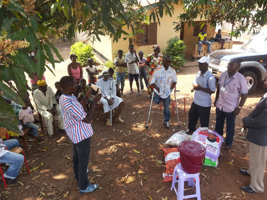 Distributing supplies to a polio community