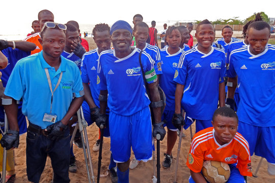 Equip 22 disabled sports teams in Sierra Leone