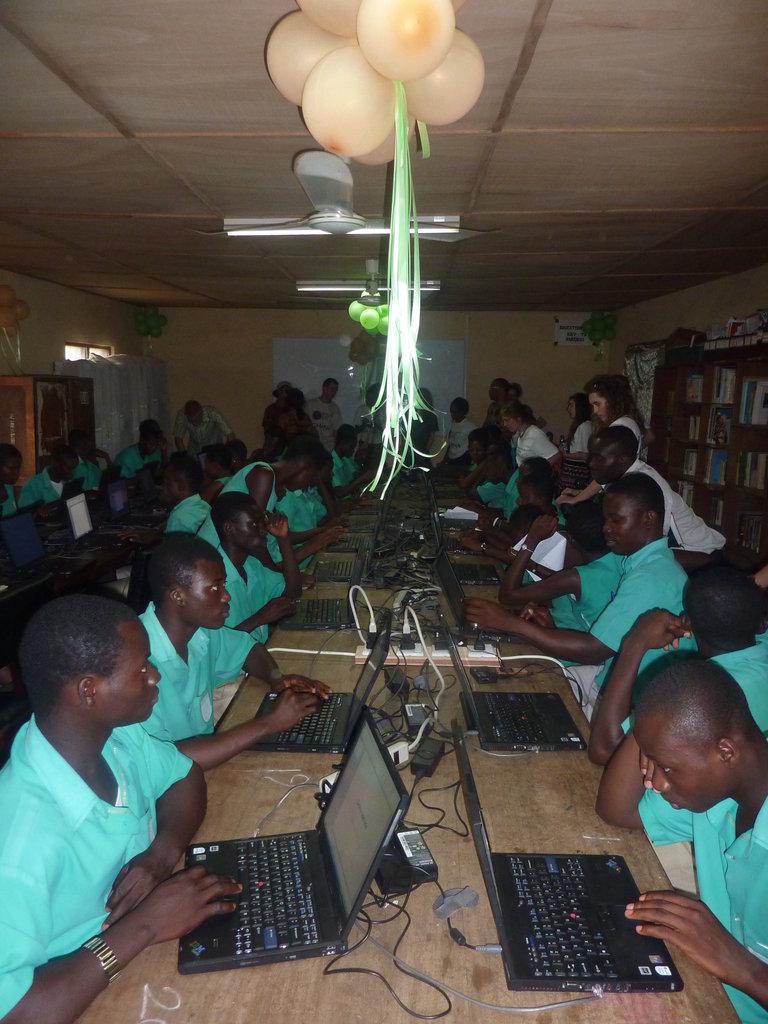 Set-Up 90 computers near Kumasi Ghana villages