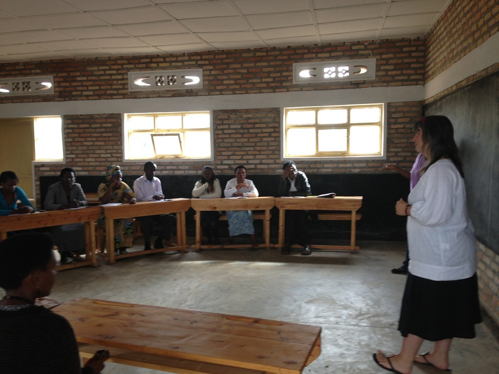 Sally Training Teachers in Ntenyo