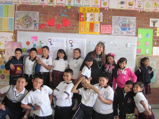 A teacher with her group