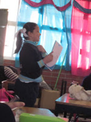 A girl participating in the program