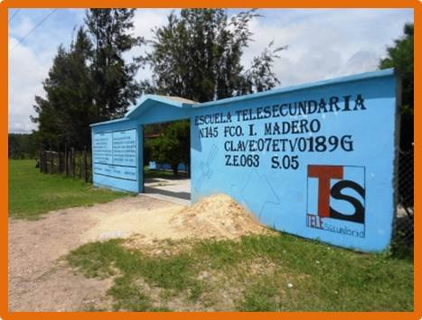 One of the participating schools in Chiapas