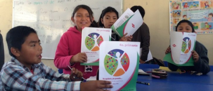 Students excited about their new books