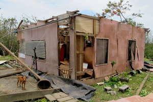 House damaged