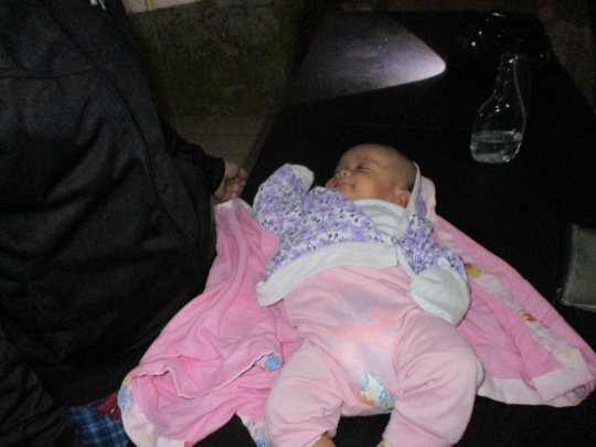 Baby Rheeana was the youngest evacuee