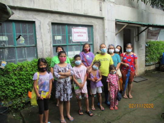 Residents who sheltered in the evacuation centre