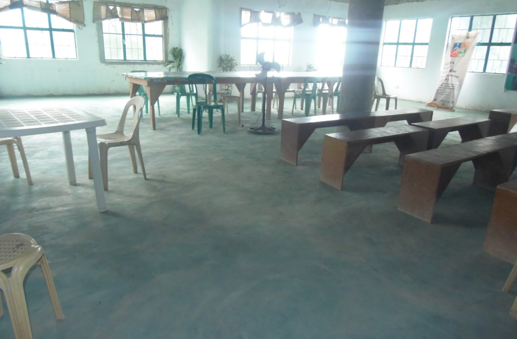 The floors also received a colourful screed coat