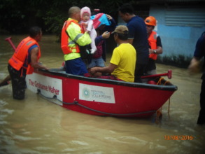 Our boats also rescued Noelle (in pink)