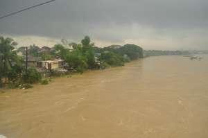 The river in full flood