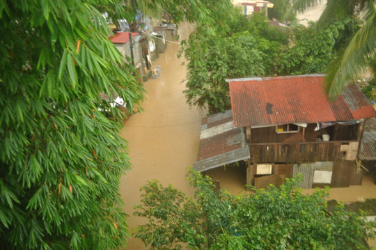 A view of North Libis during the floods.jpg