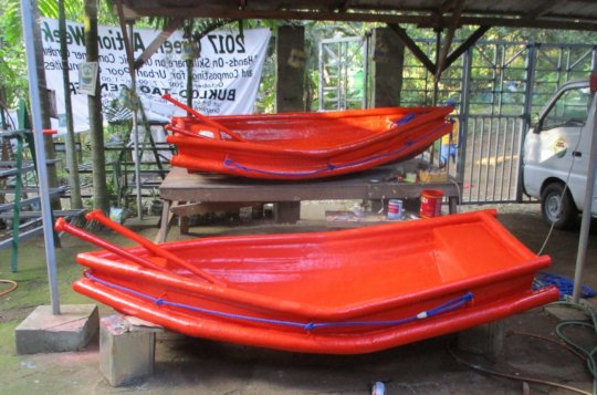The two Brgy. IVC boats ready for delivery