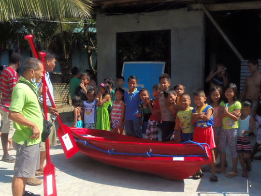 Another boat delivered to a vulnerable community