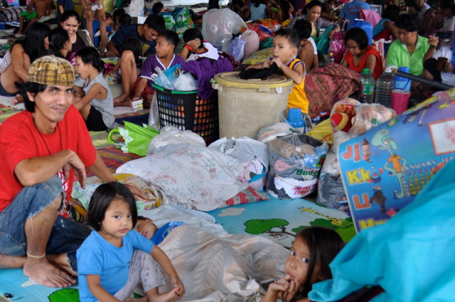 Safe in an evacuation centre