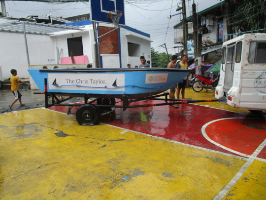 When finished the boat will look this one