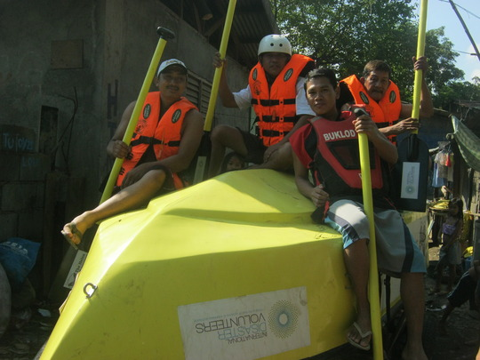 """The crew of the """"Helen Thompson"""" Boat"""