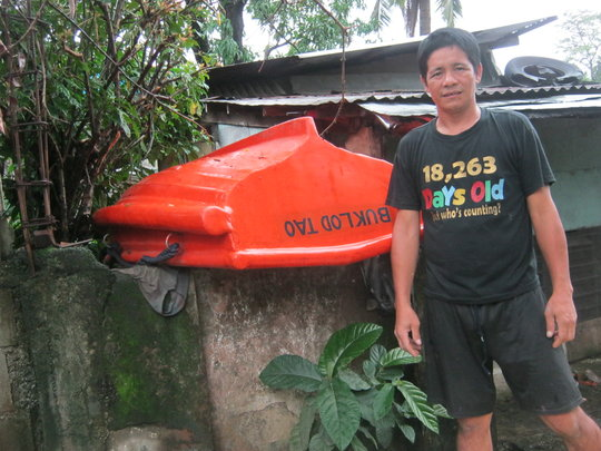 Rene and his rescue boat stand ready to respond
