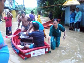 The boat which rescued a newborn baby during recent floods! .jpg
