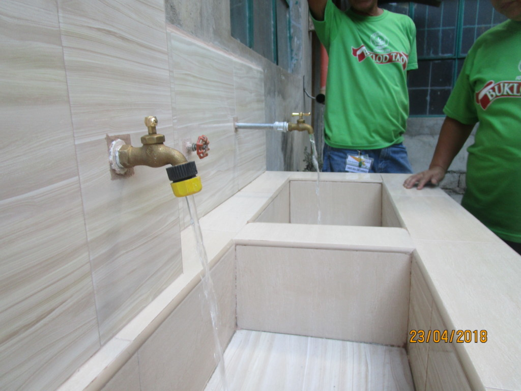 Water flows at the new washing stations