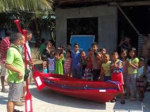 A small rescue boat in the community