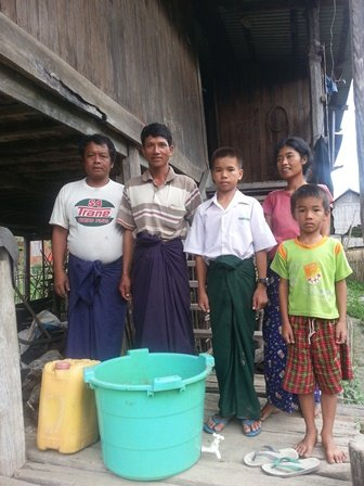 Family with start up equipment for worm breeding