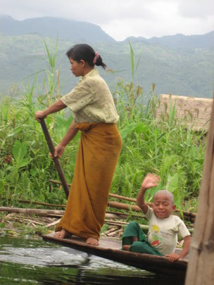 Inle Lake Native Tending Water Garden