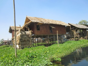 Typical Stilt House on Inle Lake