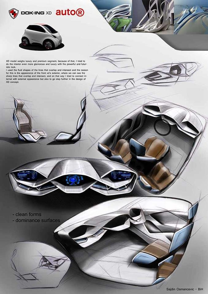 Winning design of one of our students