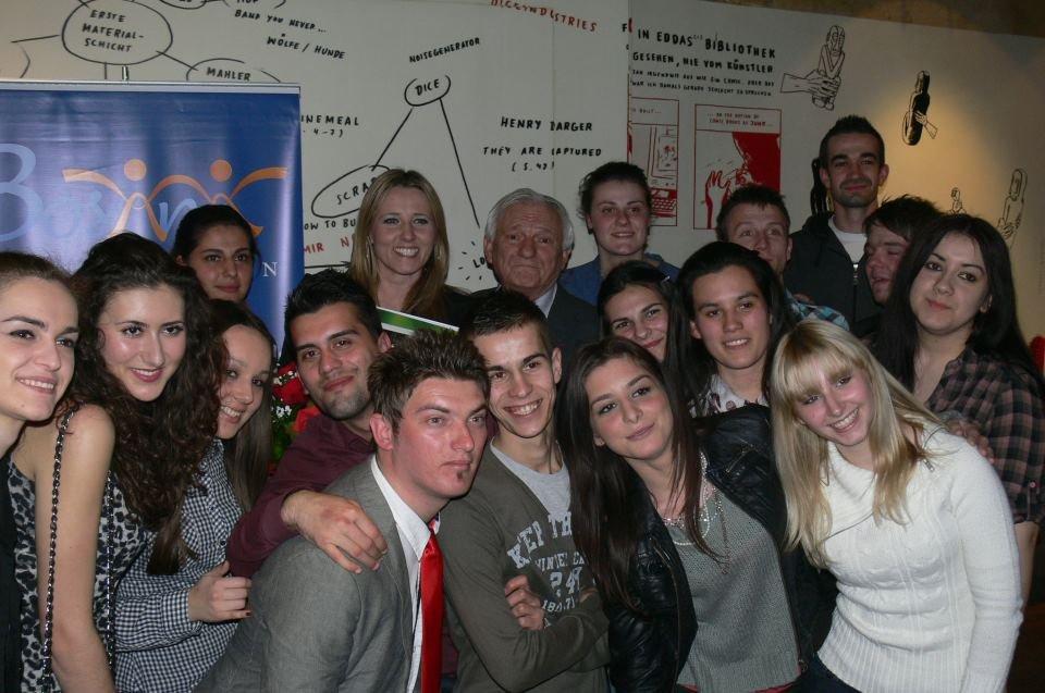 Student gathering in Sarajevo