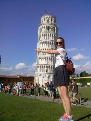 our student in Pisa, Italy
