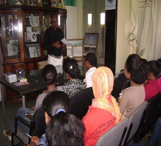 Trainees receiving orientation