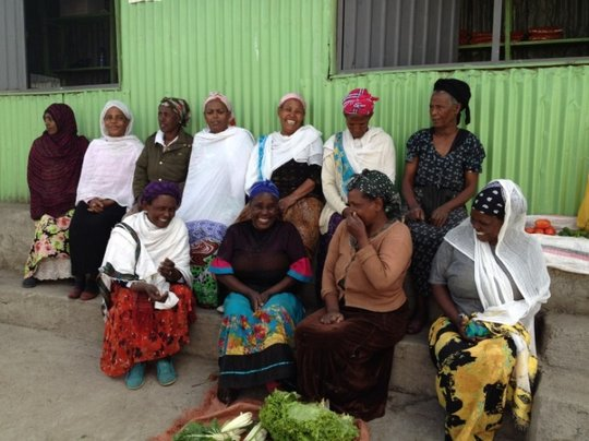 Project beneficiaries outside their business