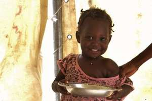 Nutritious food helps her grow up strong