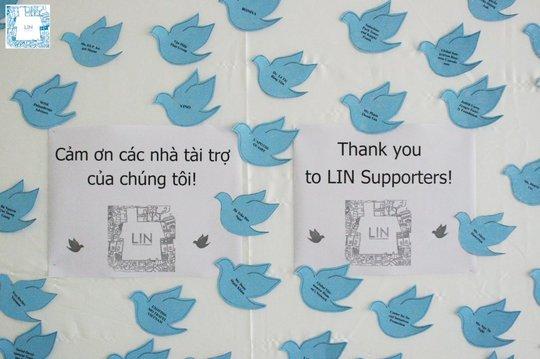 Donor Appreciation Board at LIN Community Center