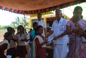 Student receiving education aid