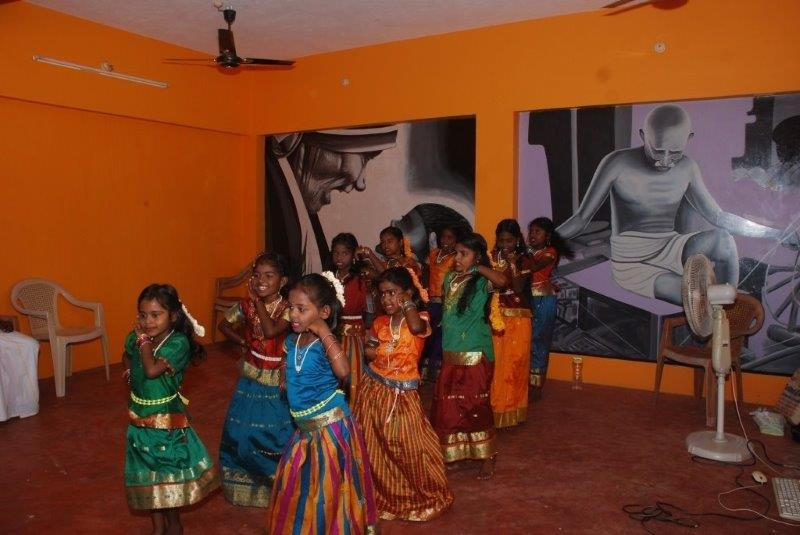 Students Dancing during the program