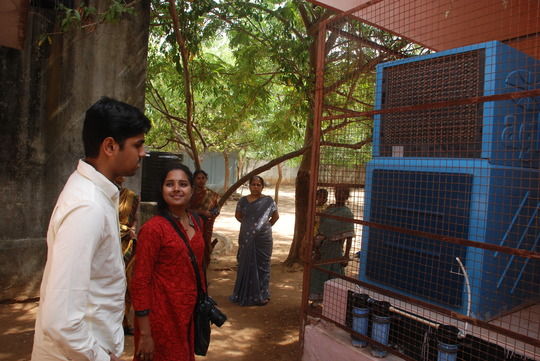 Akasha Ganga Water filtration Unit in our school