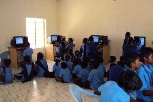 Computer lab in a rural school