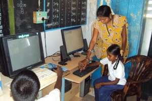 Instructing children on computer operation