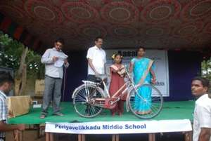 Providing bi-cycle for coming to school
