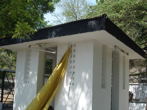 Another view of the painted cattery