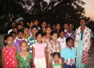 Coaching Class Children with their Teacher