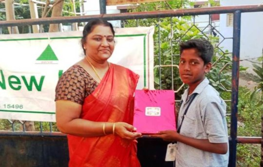 Prize to a winner on the Pongal Day