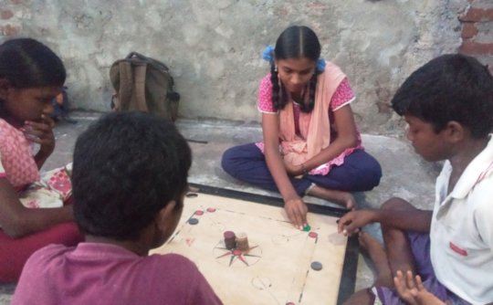 Games for the children through mobile library
