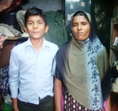 Sabeer with his mom