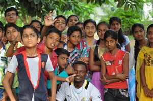Young People with Volunteers @ a Camp