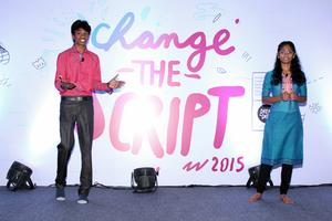 Keerthi hosting Change The Script Conference