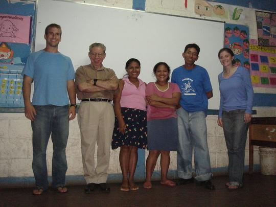 Matt, Andrea, Rafael and School Staff