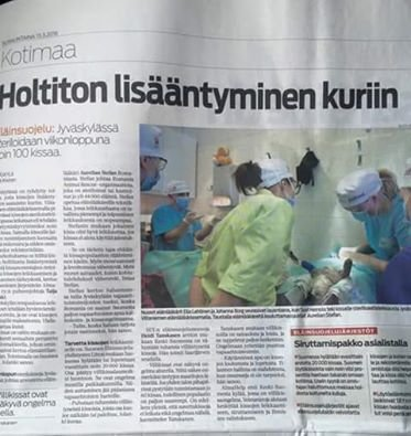 news article in Finland paper