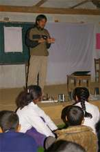 ETC's agricultural officer leading a class